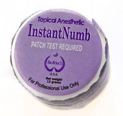 BIOTOUCH INSTANT NUMB CREAM Lidocaine Topical Anesthetic 12 gms