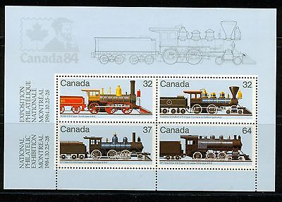 Canada SC#1039a Canadian Locomotives Souvenir Sheet MNH