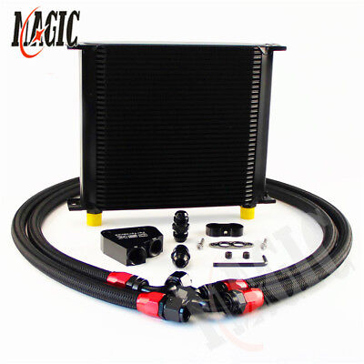 34 Row Engine Oil Cooler Kit + Sandwich Plate For BILLET LS1 LS2 LS3 LSX VE HSV