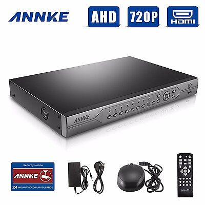 ANNKE 24CH CCTV 720P DVR NVR 3IN1 Record Security Video System P2P Function HDMI