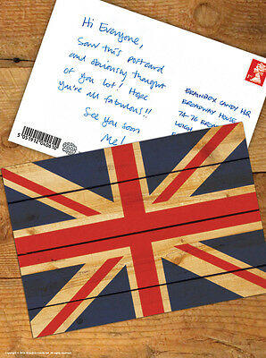 Brainbox Candy 'Union Jack' British Flag Postcard Funny Comedy Humour Novelty