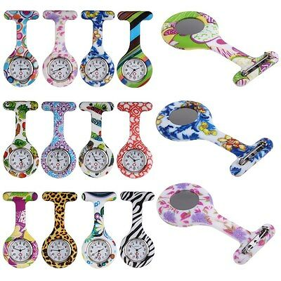 Nurses Medical Tunic Pocket Brooch Fob Watch Quartz Movement Silicone Watches