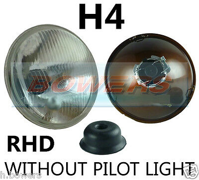 "7"" Classic Car Sealed Beam Headlamp Headlight Halogen H4 Conversion W/Out Pilot"