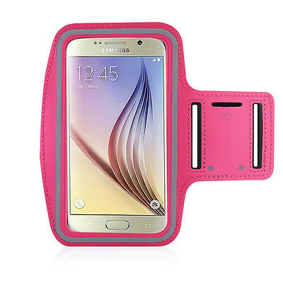 S6/S6 Edge/HTC M9 Hot Pink Jogging, Running Armband Case