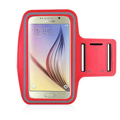 S6/S6 Edge/HTC M9 Red Jogging, Running Armband Case