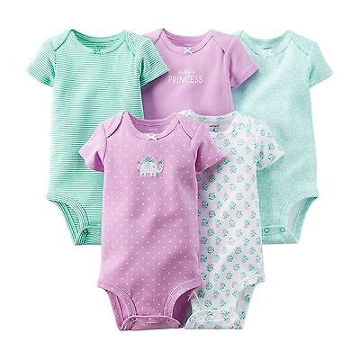 Carters Baby Newborn Girl Clothes 4 Bodysuits Long Sleeve