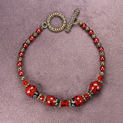 LADYBUG TOTEM BRACELET Insect Animal Magick Symbol Good Luck Love Bronze Pagan