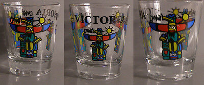 Victoria Totem Poles Shot Glass # 7354