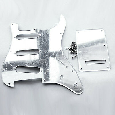 Silver Mirror Surface Guitar Pickguard Back Plate for Fender Strat Replacement