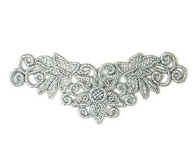 Metallic Silver Lace Applique #51 Aust Seller Tutu Dance Costume Trim