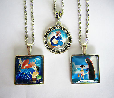 Ghibli Studio Necklace Ponyo on the Cliff Kiki's Delivery Service Spirited Away