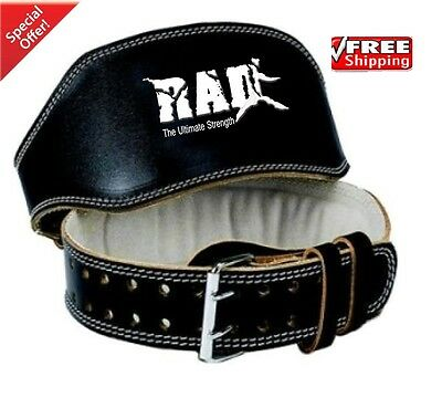 """2Fit Leather Belt 6"""" Gym Power Weight Lifting Back Support Body building X L"""