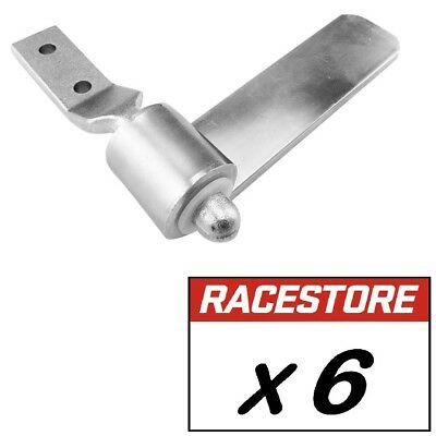 Strap Hinge & Gudgeon Kit (6 PACK) for ute tray sideboard  - 150mm Zinc Plated