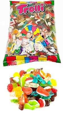 Trolli Groovy Mix 2kg Bag Candy Buffet Gummy Lollies Sweets Party Favors New
