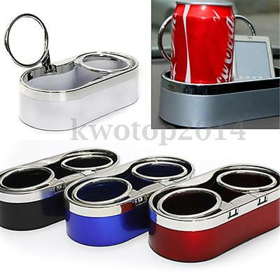 4 Color Durable ABS Auto Car Truck Mount Dual Hole Drink Bottle Cup Holder Stand