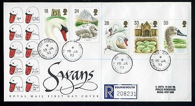 1993 Swans  Royal Mail cover  Abbotsbury CDS