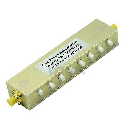 Adjustable Press Variable Attenuator 5W DC-2.5Ghz 0-90dB SMA 8-key step 1db BHY