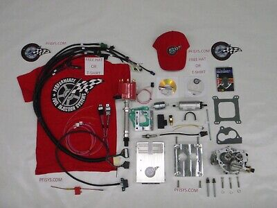 EFI COMPLETE TBI Fuel Injection Kit Stock Chevy 350 5 7L MARINE APPLICATION  BOAT