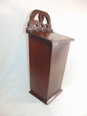 Antique Primitive 19Th C. Hand Made Inlaid Mahogany Or Walnut Candle Box