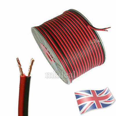2 CORE RED AND BLACK HIFI CABLE CAR HiFi AUTO BOAT AUDIO HOME LOUD SPEAKER WIRE