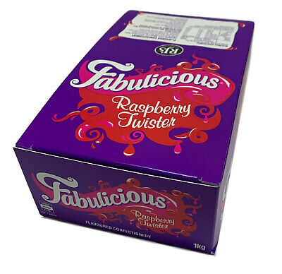 Wonka Fabulicious Raspberry Twister 1kg Box 90 Pieces Candy Buffet Lollies Favor