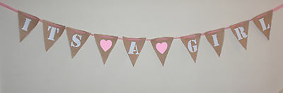 Hessian Personalised Bunting Party Flags 50  PENCE PER FLAG