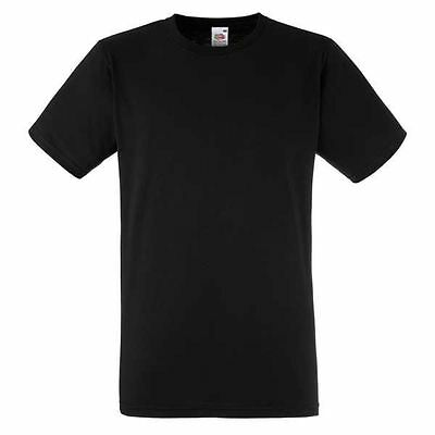 fruit of the loom black t-shirt boys top 12-13 years good quality