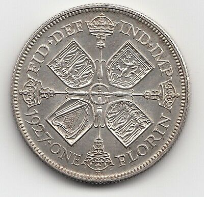 Very Rare George V 1927 Proof Silver Florin 2/- Two Shilling