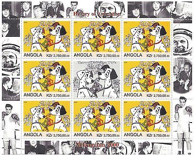 101 Dalmatians Classic Disney History of Animation / MNH Stamps 2000