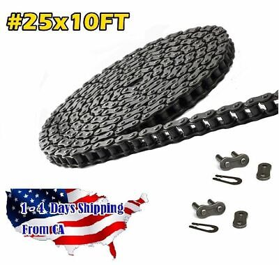#25 (25-1) Roller Chain 10FT with 2 Master Links ANSI Standard