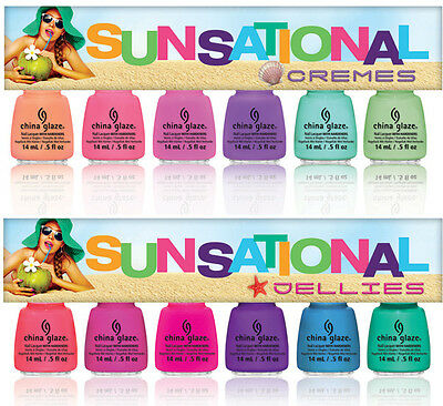 China Glaze Sunsational Nail Polish 0.5fl oz Summer Collection Full 12 pcs