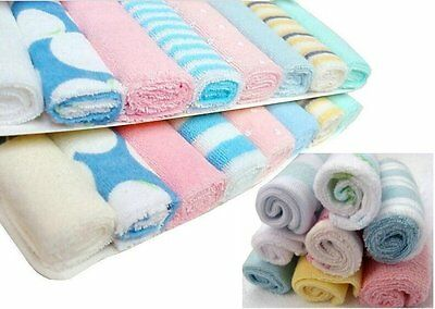 8pc Soft Face Washing Bath Shower Cloth Towel Wipe 21cm x 21cm New in Box
