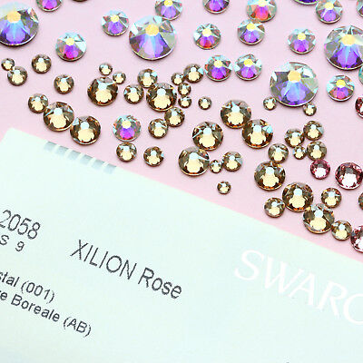 Genuine SWAROVSKI Crystals 2058 & 2088 Foiled Flat Backs No Notfix * Many Colors