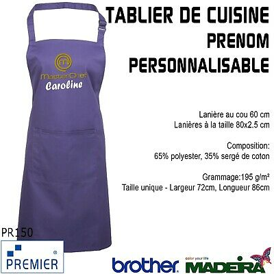 Tabliers linge de cuisine cuisine arts de la table for Tablier de cuisine personnalise