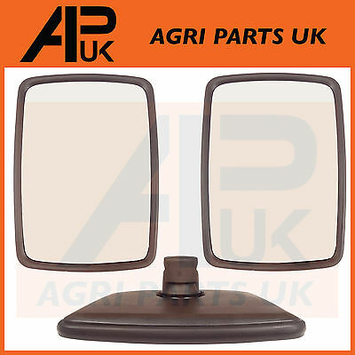 Tractor Mirror Head Pair Massey Ferguson Ford New Holland John Deere Case IH