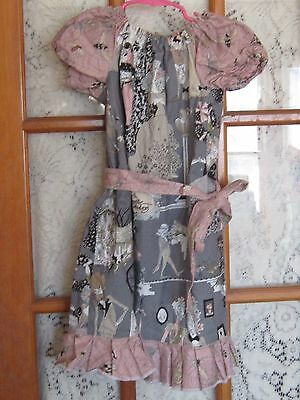 Frilly Freckles girls peasant style Christmas holiday dress Ghastlies 5 6 goth