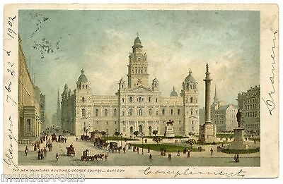 the new municipal buildings. georges square. glasgow
