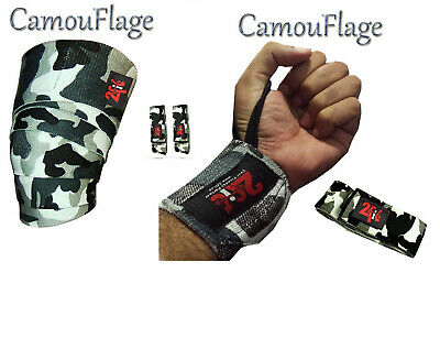 2Fit Knee Wraps Bandage Pads & Wrist Wrap Grip Weight Lifting Crossfit Training