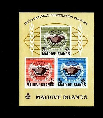 Maldives - 1965 - Icy - Cooperation Year - Un - Mint  S/sheet!