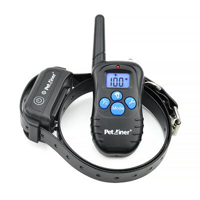 Petrainer Electric Remote Dog Training Shock Collar Waterproof Rechargeable LCD