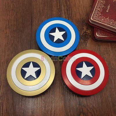 Vogue Captain America Style Contact Lens Case with Soaking Case Holder Box UK HY