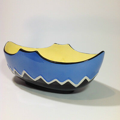 FALCON WARE DECO BOWL 'MODERN CRESCENT' VINTAGE Made in England