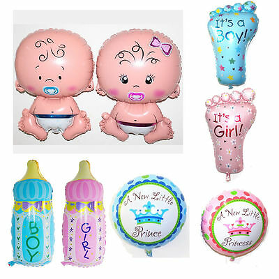 Boy Girl Baby Shower Foil Helium Balloons Christening Birthday Party Decoration