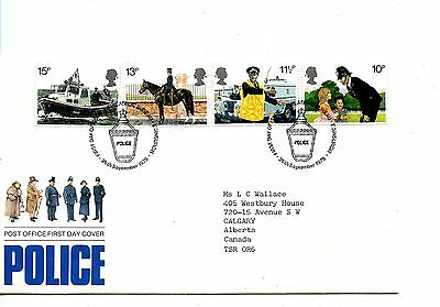 Old First Day Cover stamps  FDC Great Britain British 26 Sept 1979 Police