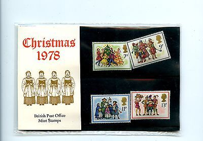 Old Mint Stamp set Great Britain  British Post Office Christmas 1978