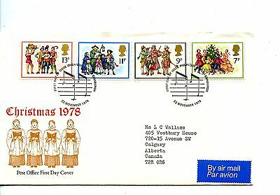 Old First Day Cover stamps FDC Great Britain British Christmas 1978 Nov 22