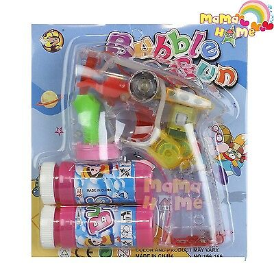 Bubble Gun Battery Operated 2 BOTTLES FREE COME WITH IT.