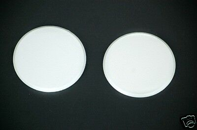 2Pc Round Door Knob Wall Shield Self Adhesive Protector White Paintable New!!