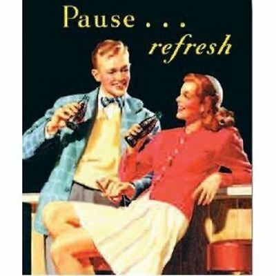 Coca Cola Canvas Art - Pause Refresh - Key Enterprises -  08117 - NEW!