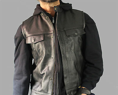 Sons of Anarchy Vest Biker Vest Leather High Quality perfect for Harley Davidson